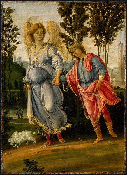 filippino lippi tobias en de engel