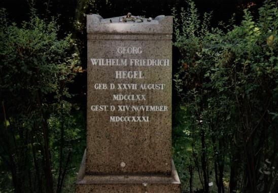 hegel's tombstone in berlin