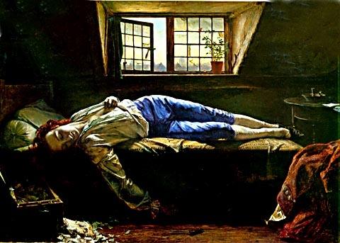 dichter,zelfmoord,melancholie,henry wallis,thomas chatterton