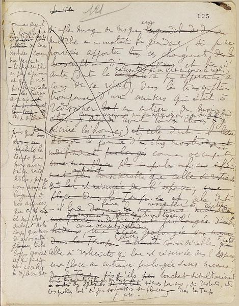 proust manuscript