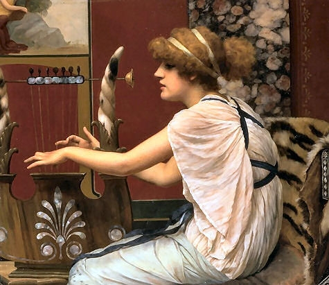 John_William_Godward_Erato_at_Her_Lyre