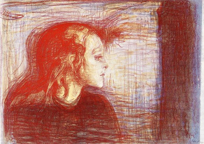 munch sick child lithograph