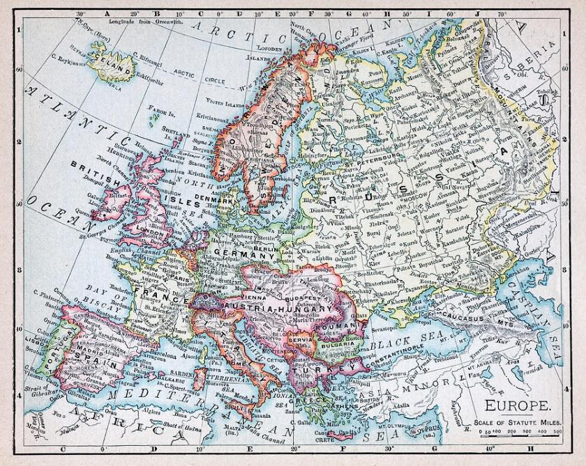 nineteenth-century-map-of-europe