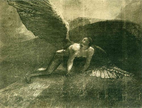 odilon redon fallen-angel-1872.jpg